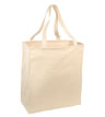 B110A - Embroidered Over-the-Shoulder Grocery Tote