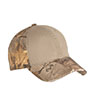 C807 - Camo Cap with Contrast Front Panel
